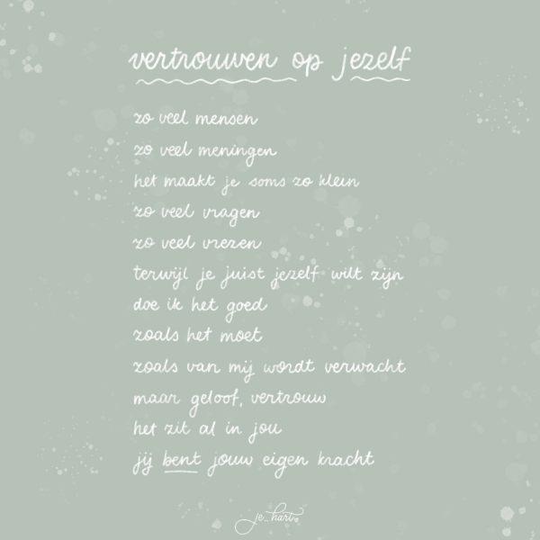 Gepersonaliseerd gedicht vertrouwen